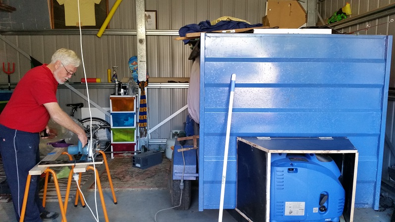 Fitting out the trailer in Armidale